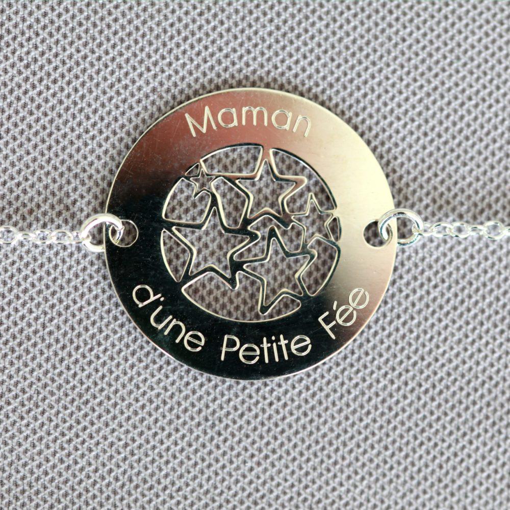 bracelets argent 925 maman d'une petite fée