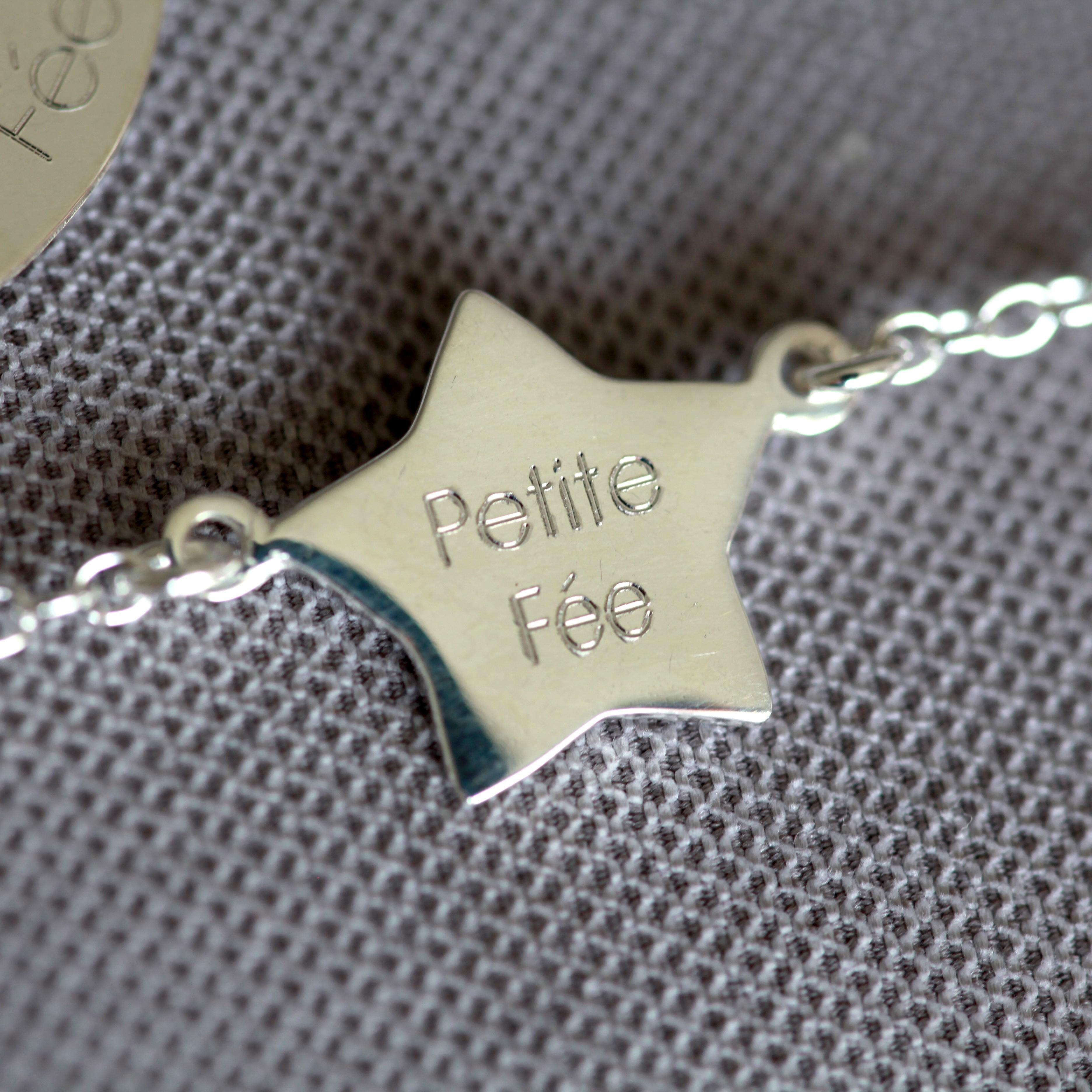 bracelet argent 925 petite fée