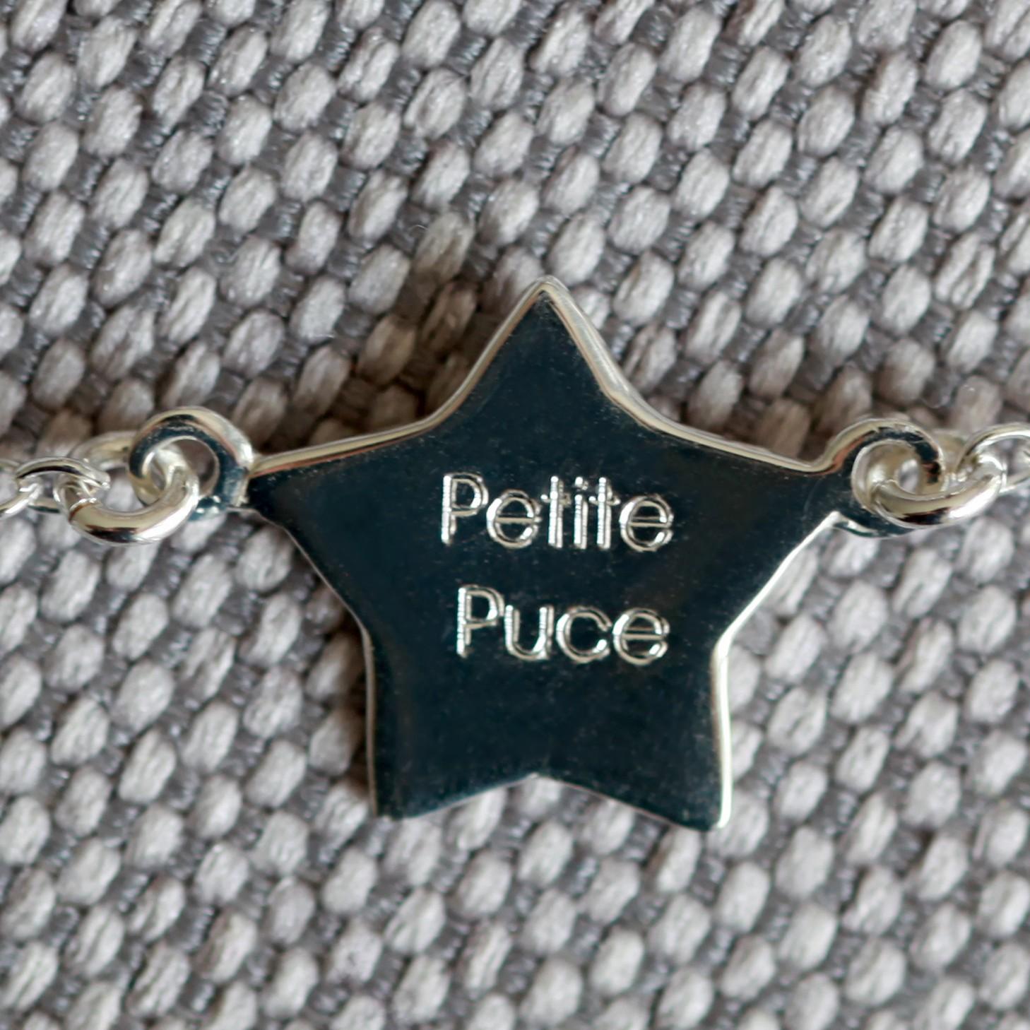 bracelet argent 925 petite puce