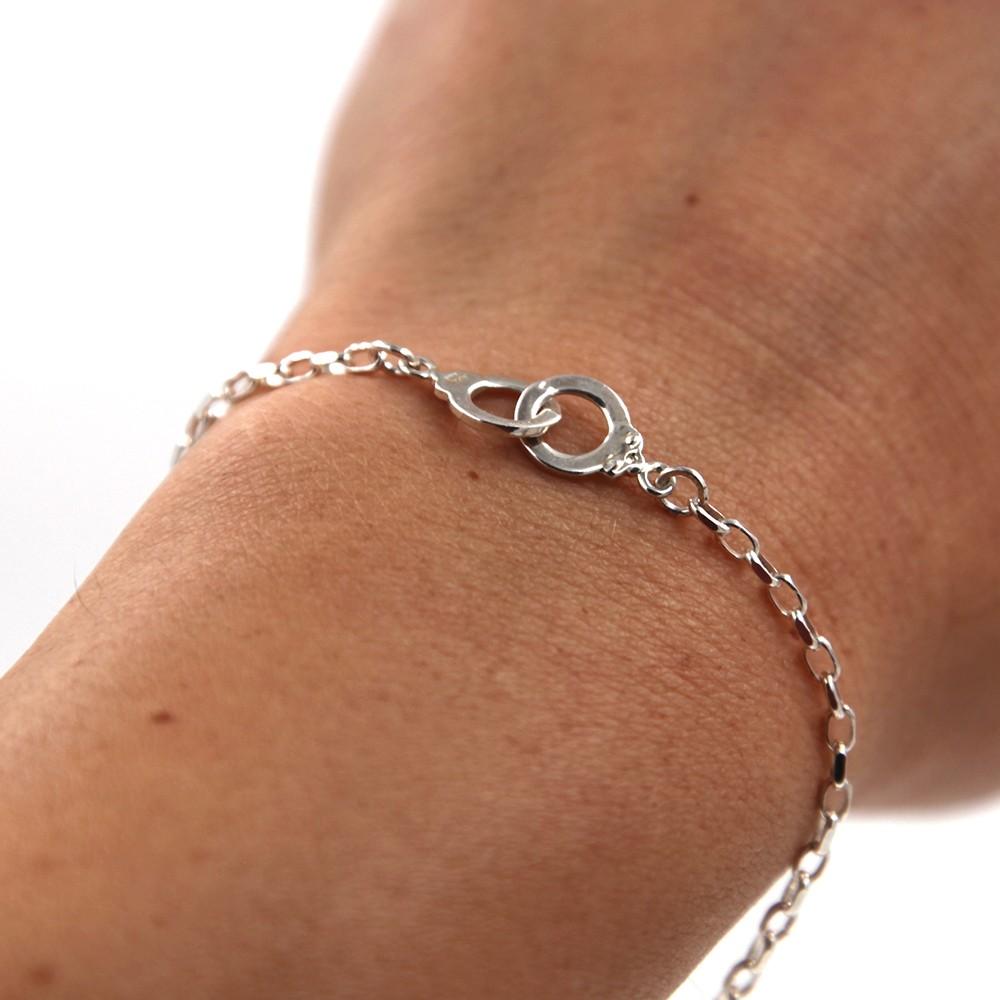 Bracelet Mixte argent 925 – menottes