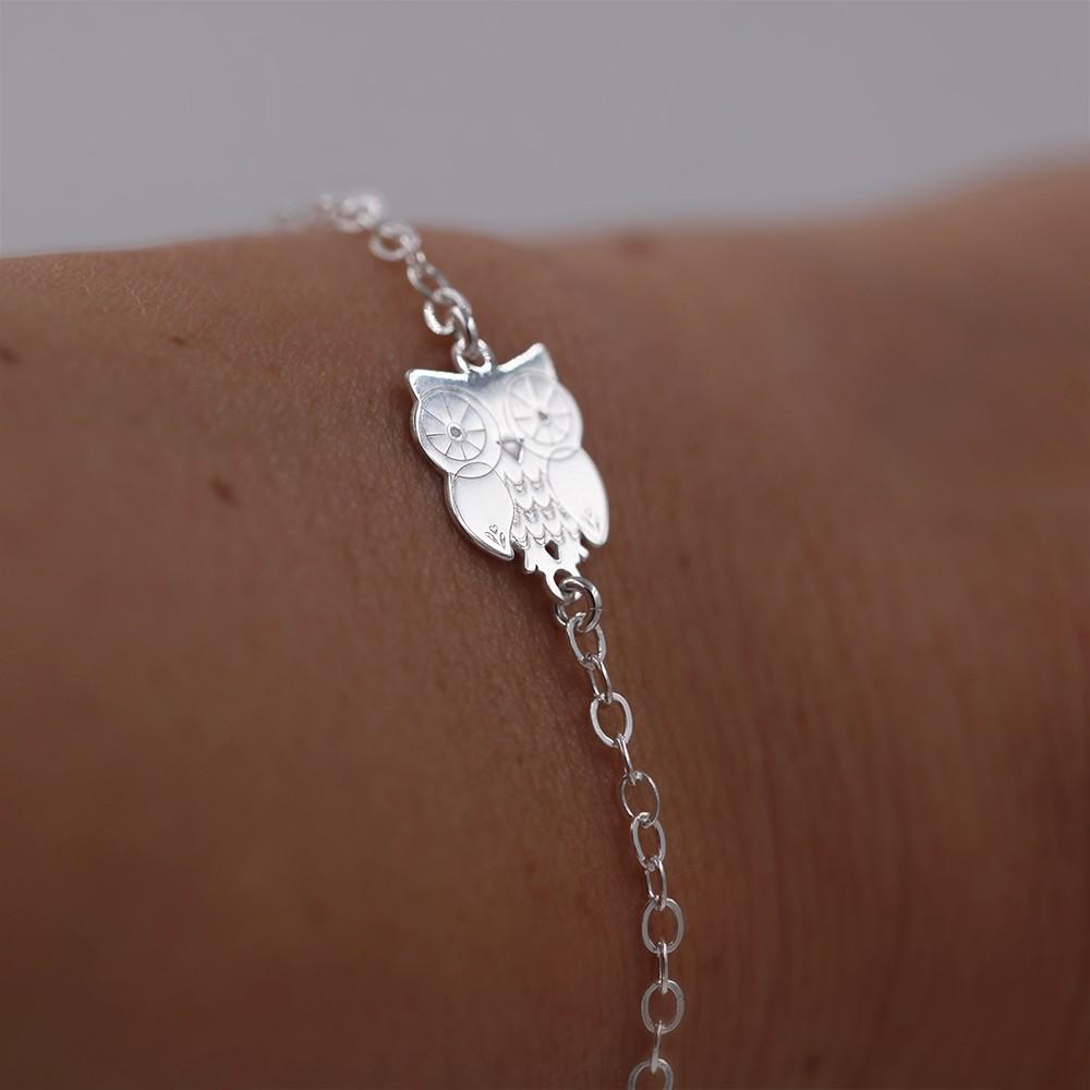 bracelet chouette – argent 925 – bijou femme