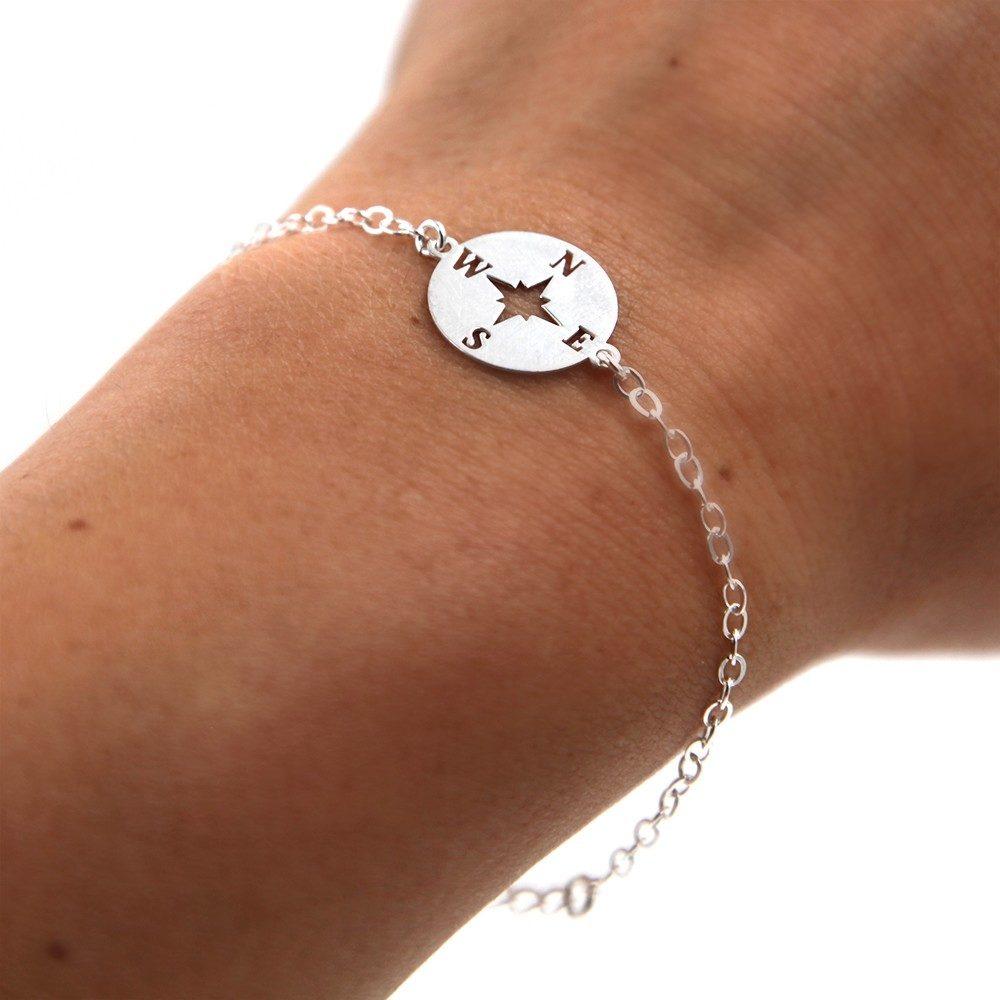 Bracelet – Rose des vents – argent 925