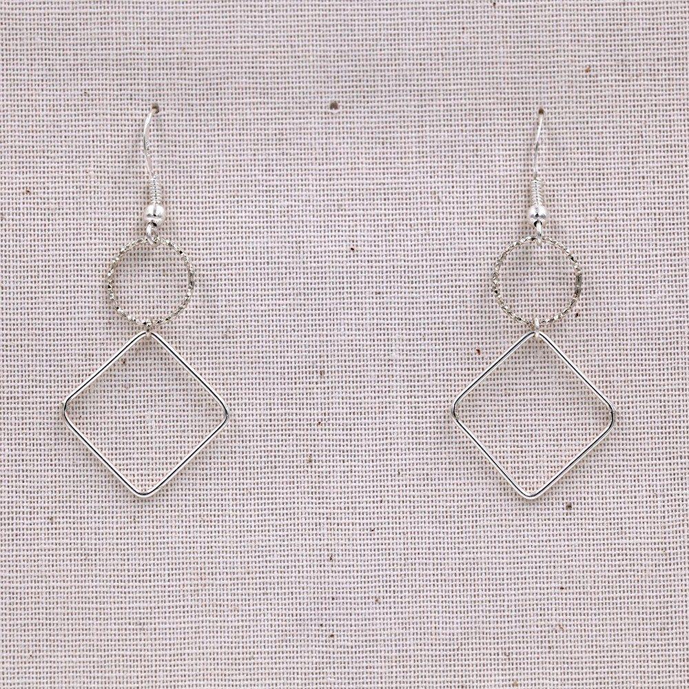 Boucles d'oreilles – Géométriques – argent 925