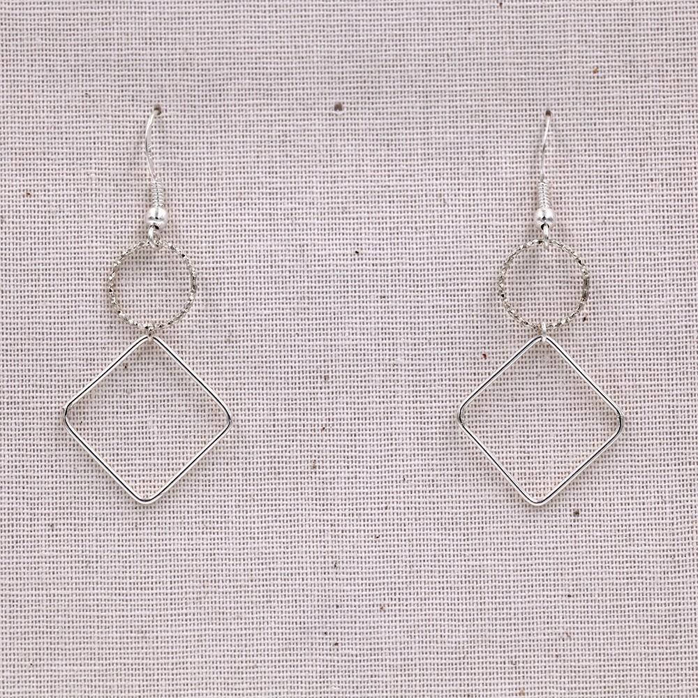 Boucles d'oreilles géometriques – argent 925