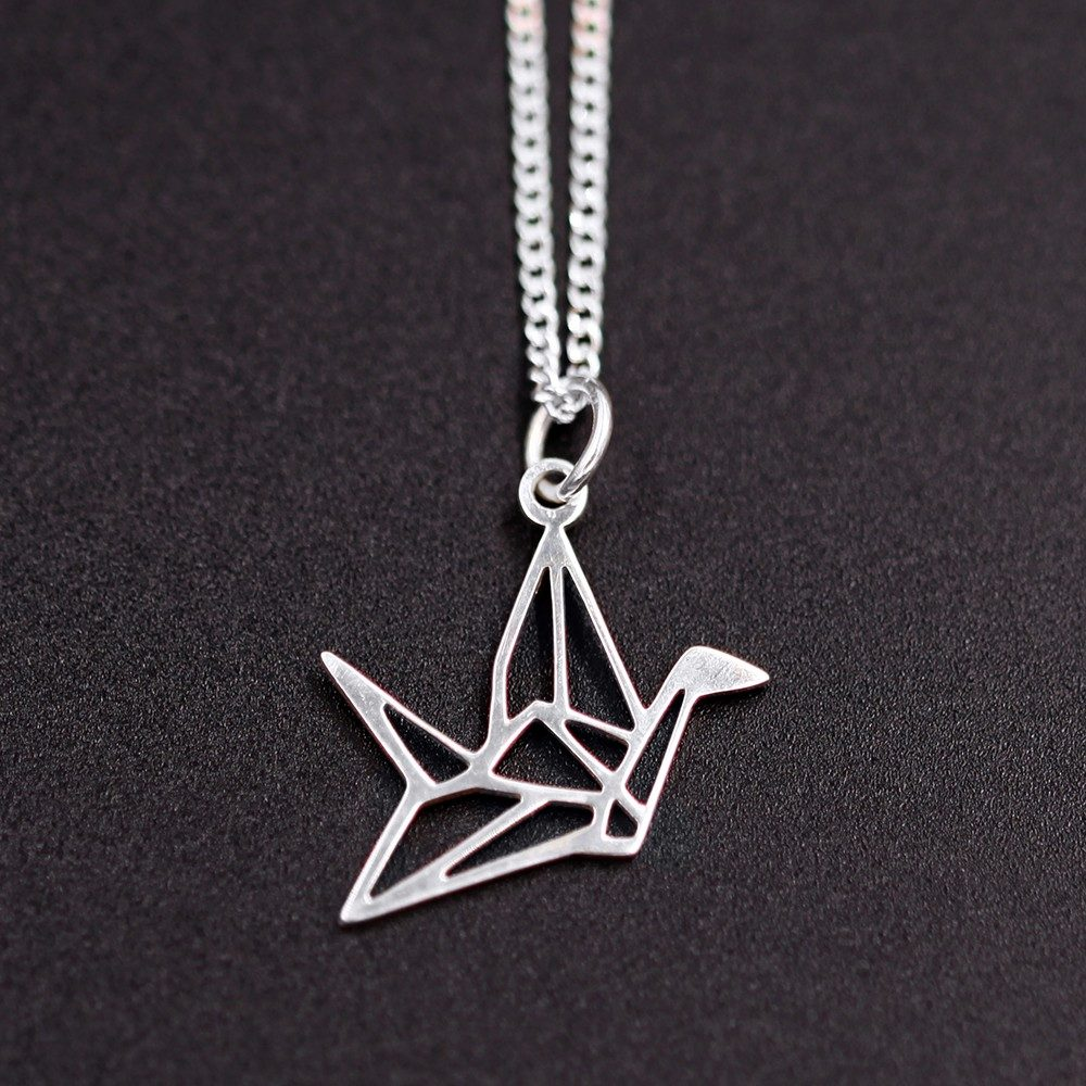Collier – Origami grue – ARGENT 925