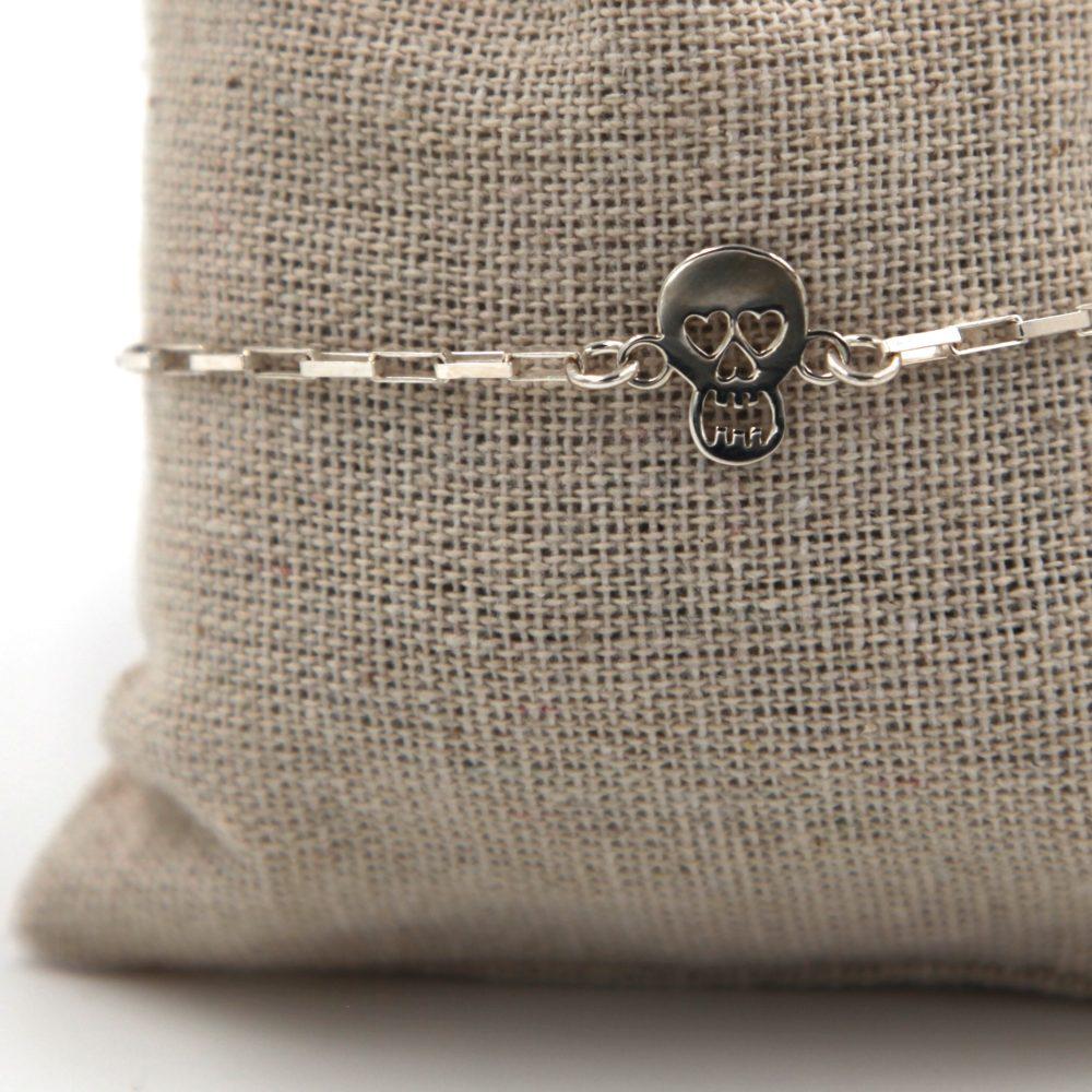 bracelet homme tete de mort – argent 925