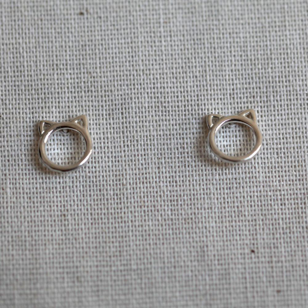 Boucles d'oreilles – Chat – ARGENT 925