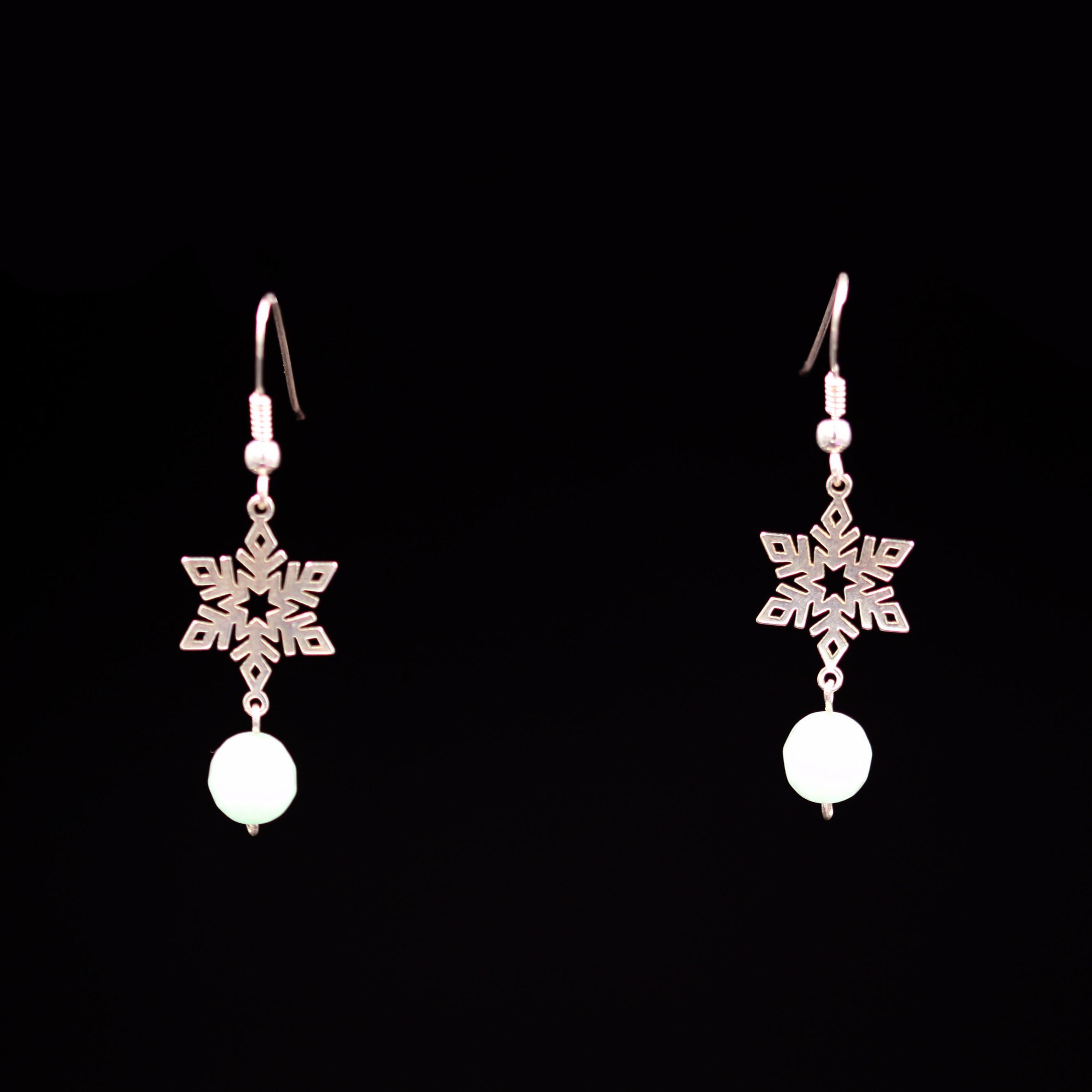 Boucles d'oreilles – Reine des neiges – ARGENT 925