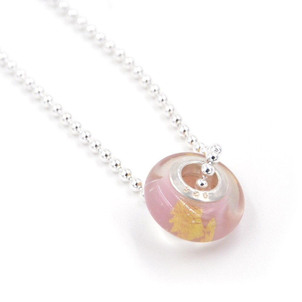 Collier – Murano rose – ARGENT 925