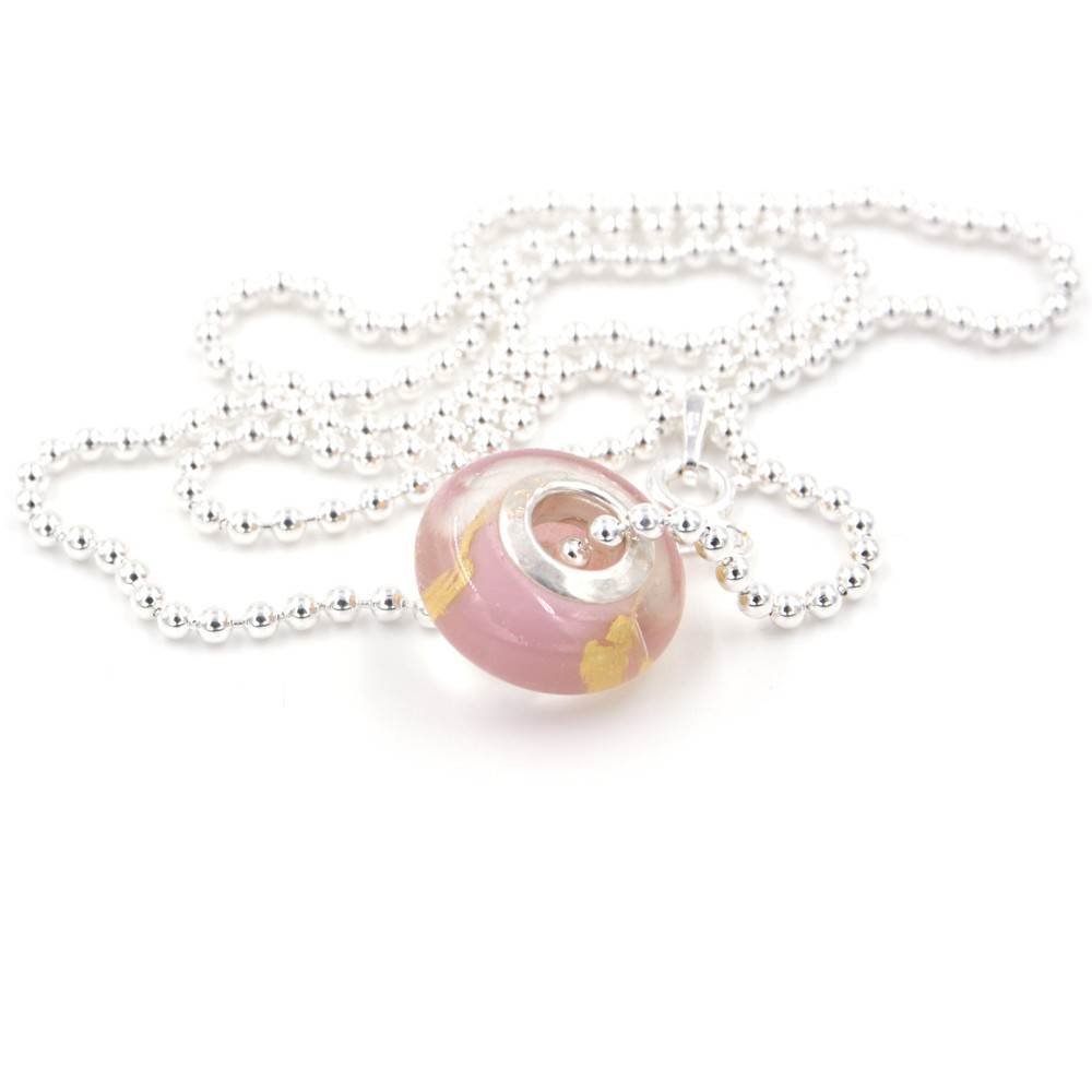 Collier - Murano rose - ARGENT 925