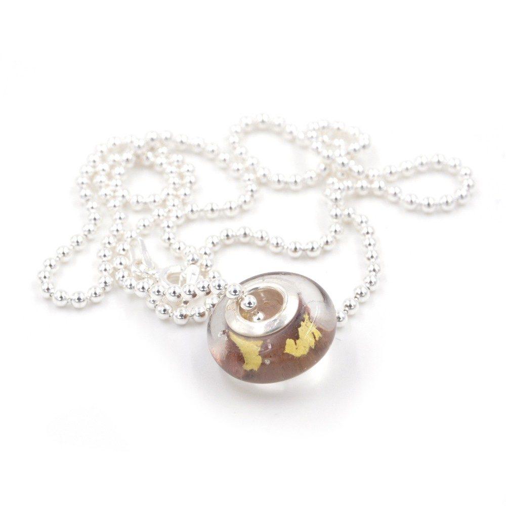 Collier – Murano brune – ARGENT 925