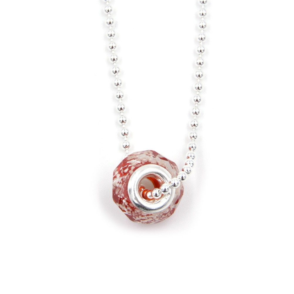 Collier – Murano rouge – ARGENT 925