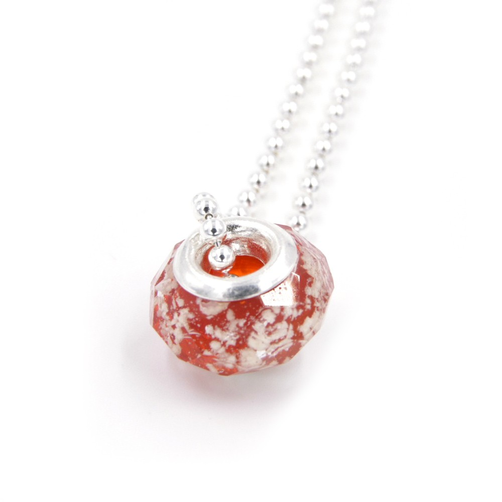 Collier Murano rouge – Argent 925