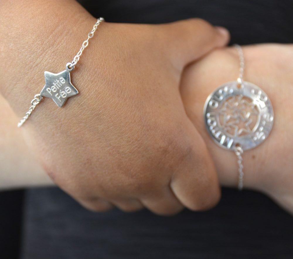 Bracelet MAMAN – Maman d'une Petite Fée – ARGENT 925