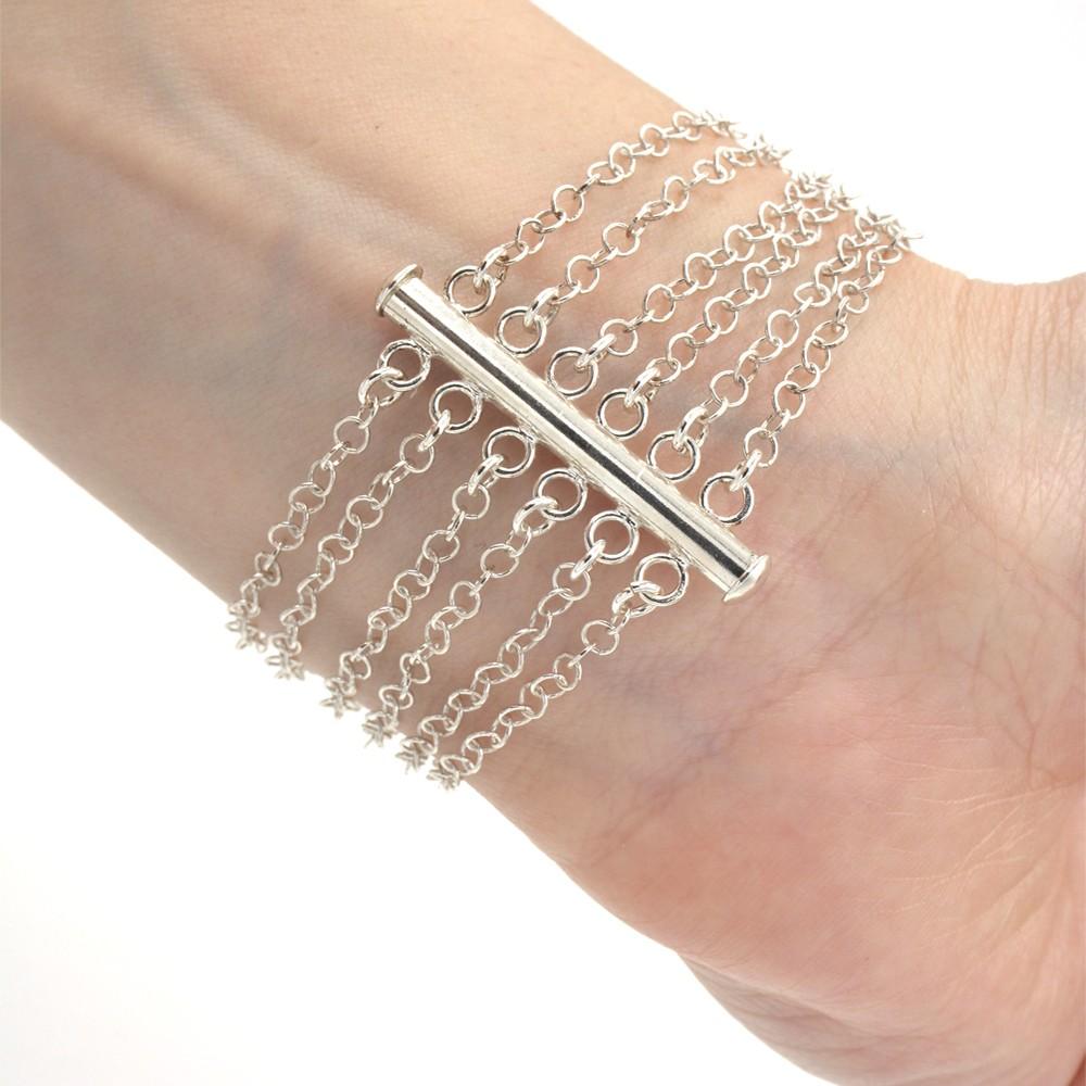 Bracelet 6 rangs – ARGENT 925