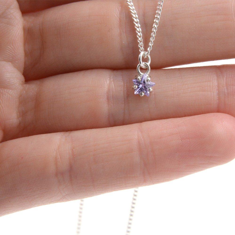 Collier – Étoile violette – ARGENT 925