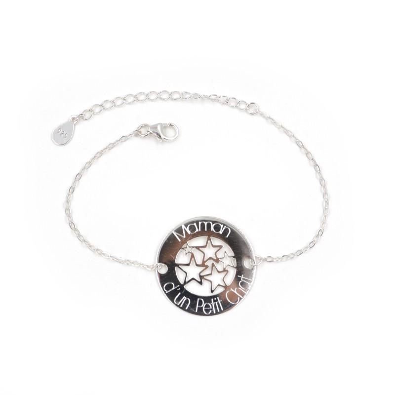 Bracelet MAMAN – Maman d'un Petit Chat – ARGENT 925