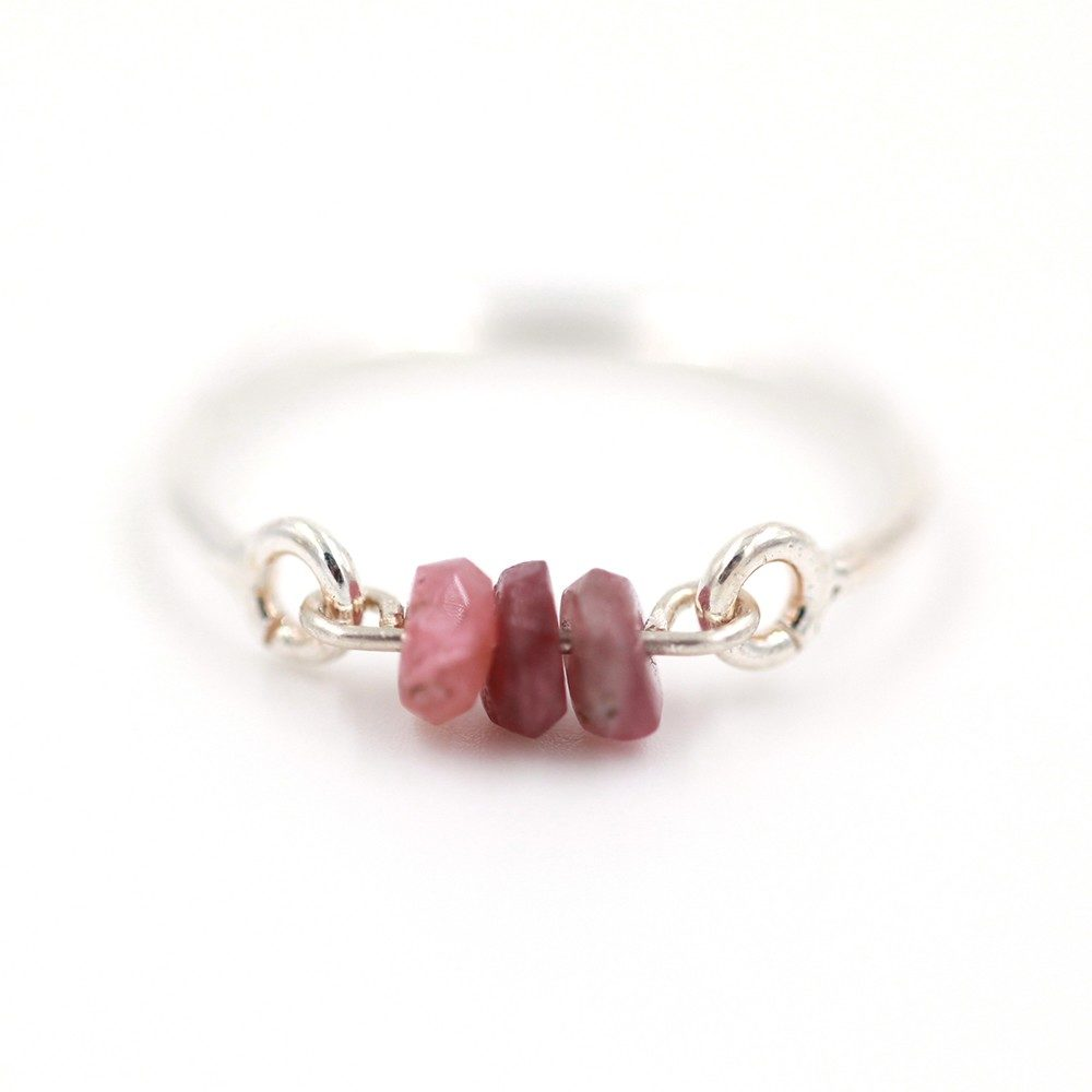Bague – Tourmaline rose – ARGENT 925
