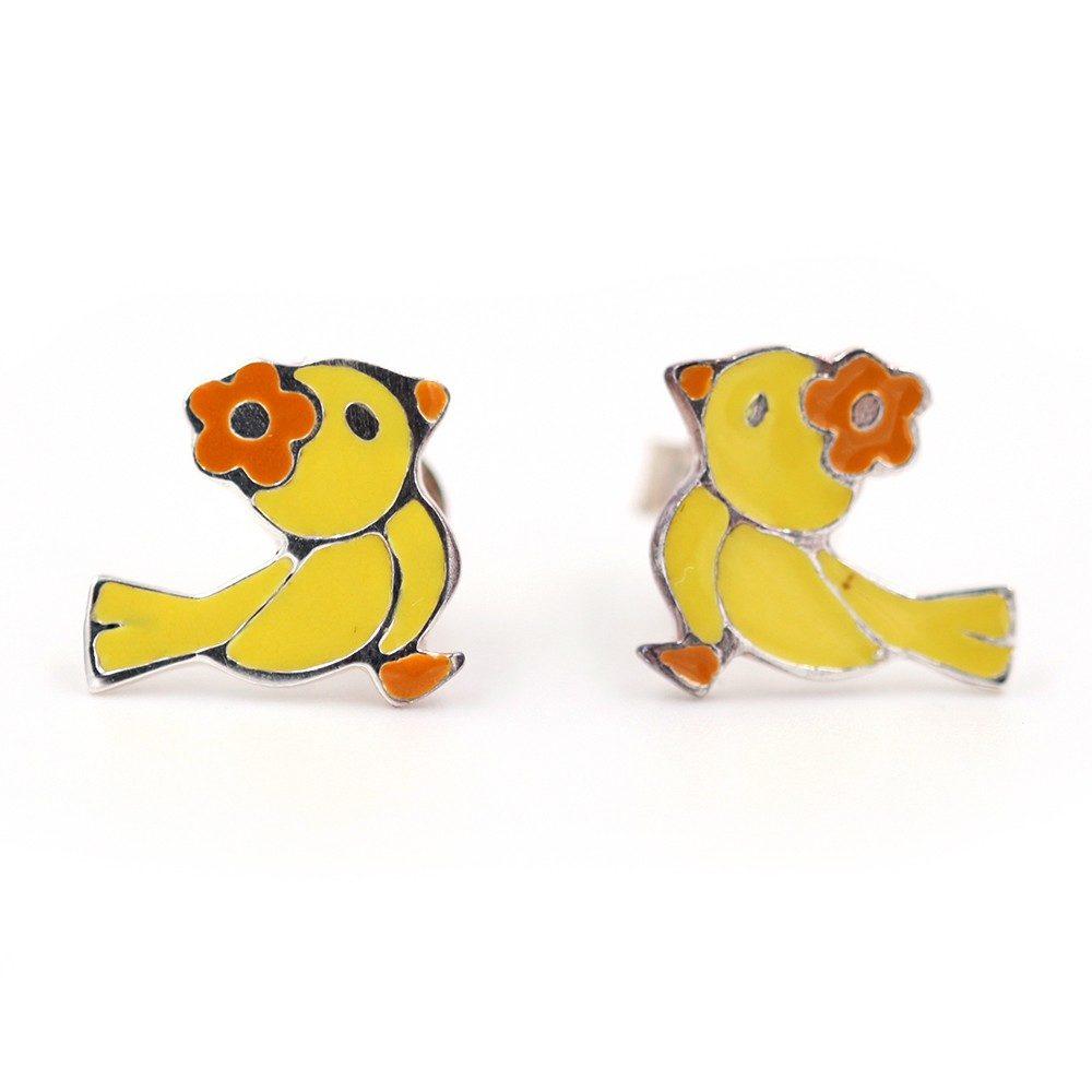Boucles d'oreilles – Oiseau – ARGENT 925