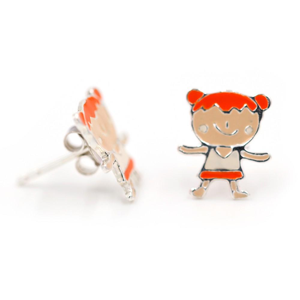 Boucles d'oreilles – Fille rousse – ARGENT 925