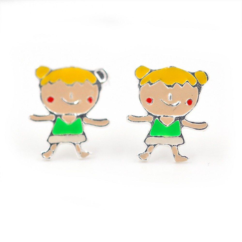 Boucles d'oreilles – Fille blonde – ARGENT 925