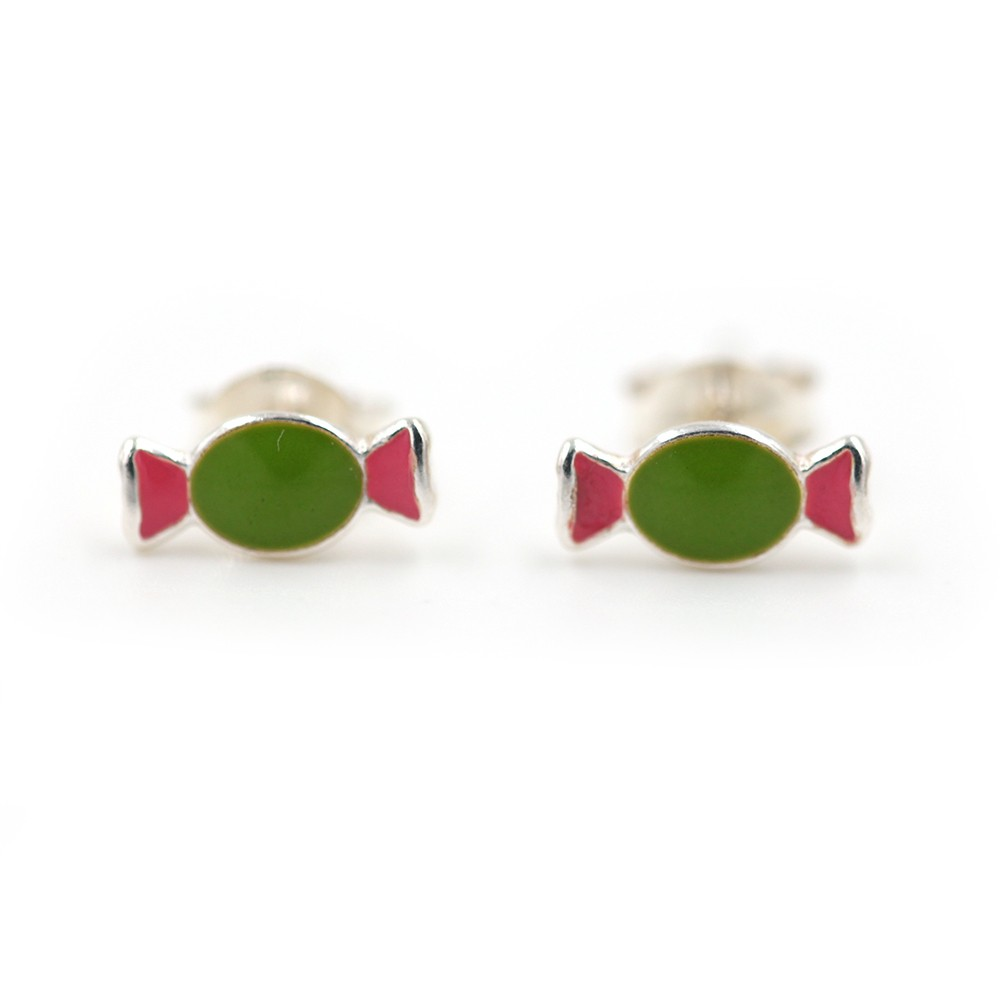 Boucles d'oreilles fille – bonbon – ARGENT 925