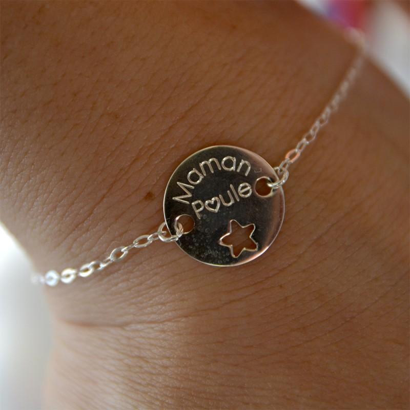 bracelet femme : maman poule, idée cadeau de naissance
