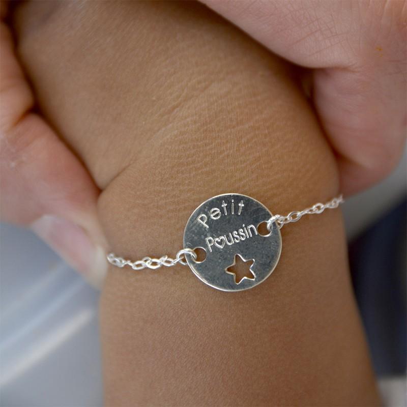 bracelet bébé : petit poussin, idée cadeau de naissance