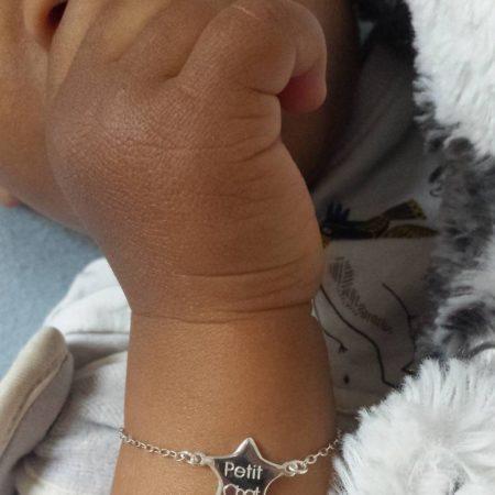 Bracelet BÉBÉ – Petit Chat – ARGENT 925