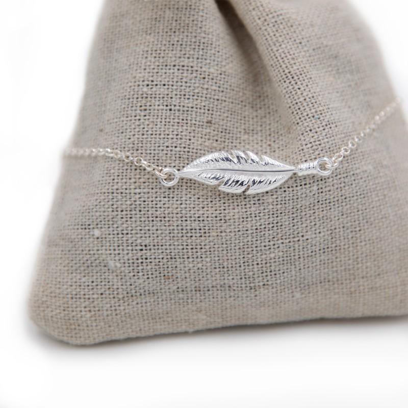 Bracelet femme Plume – ARGENT 925
