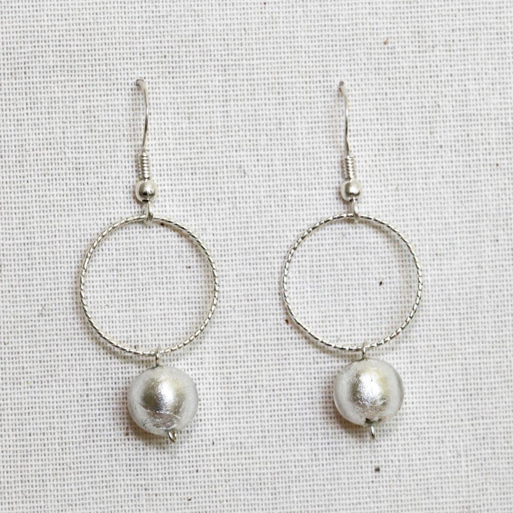 Boucles d'oreilles femme murano – argent 925 – same bijoux – fait main