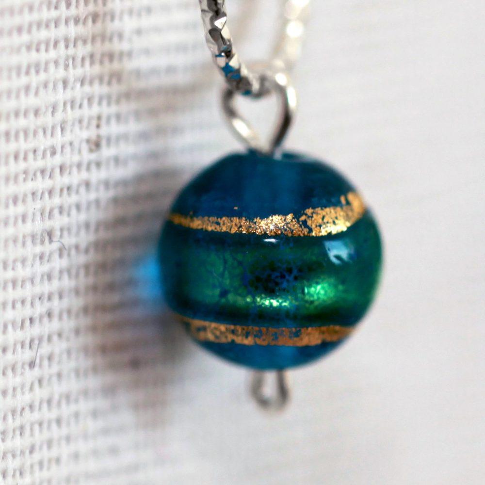 Boucles d'oreilles – Murano blue moon- ARGENT 925