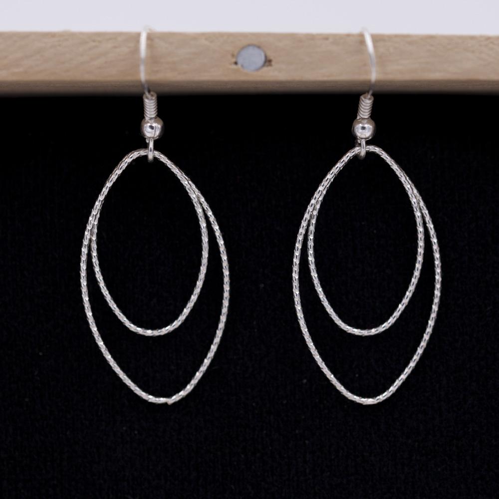 boucle-oreille-ovale-argent-925