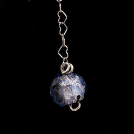 Boucles d'oreilles – Murano bleue – ARGENT 925