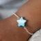Bracelet étoile nacre bleue - pour bébé et enfant-argent 925