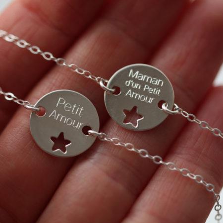 bracelet a graver – same bijoux – maman bébé