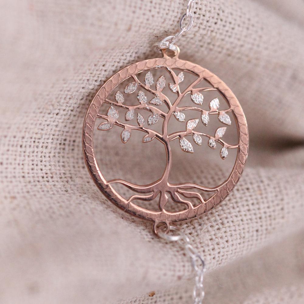 Bracelet – Arbre de vie rosé – ARGENT 925