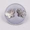 Boucles d'oreilles puce - fille - papillon - argent 925