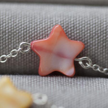 bracelet-etoile-nacre-corail