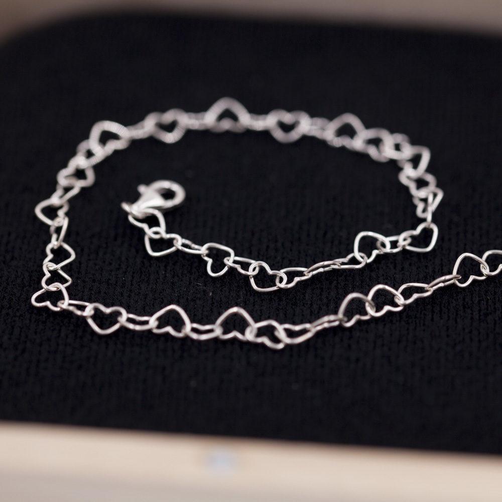 Bracelet de cheville – Cœur – ARGENT 925