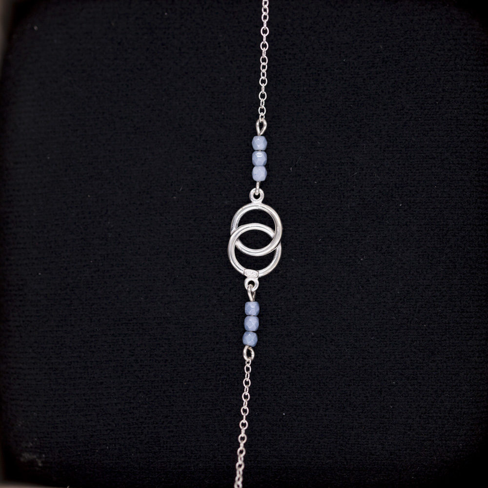 Bracelet – blue love – ARGENT 925
