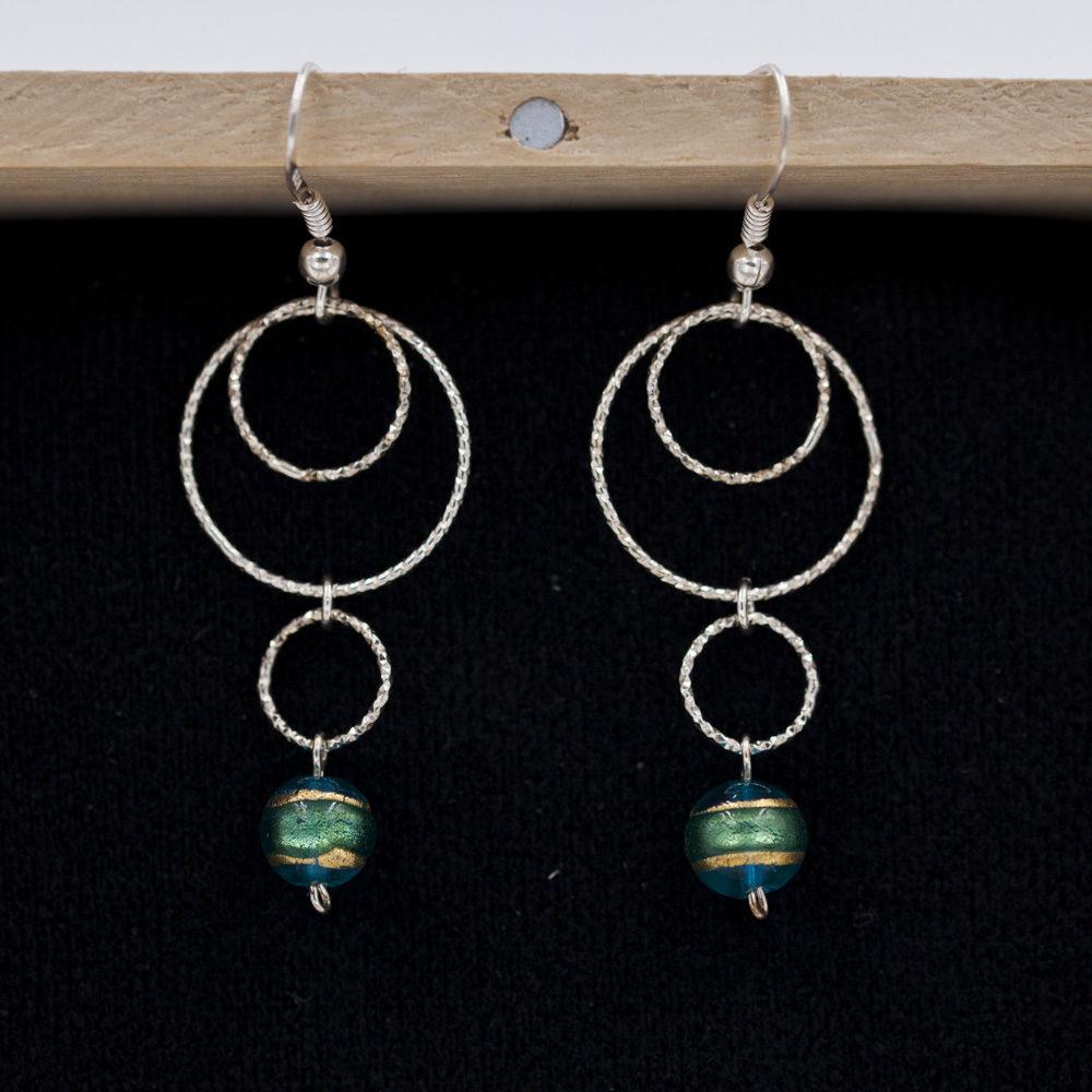 Boucles d'oreilles – Murano Méa – ARGENT 92