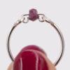 Bague – Pierre tourmaline rose – ARGENT 925