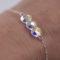 Bracelet femme - Cœurs Swarovski cristal - ARGENT 925