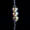 Bracelet femme – Cœurs Swarovski cristal – ARGENT 925