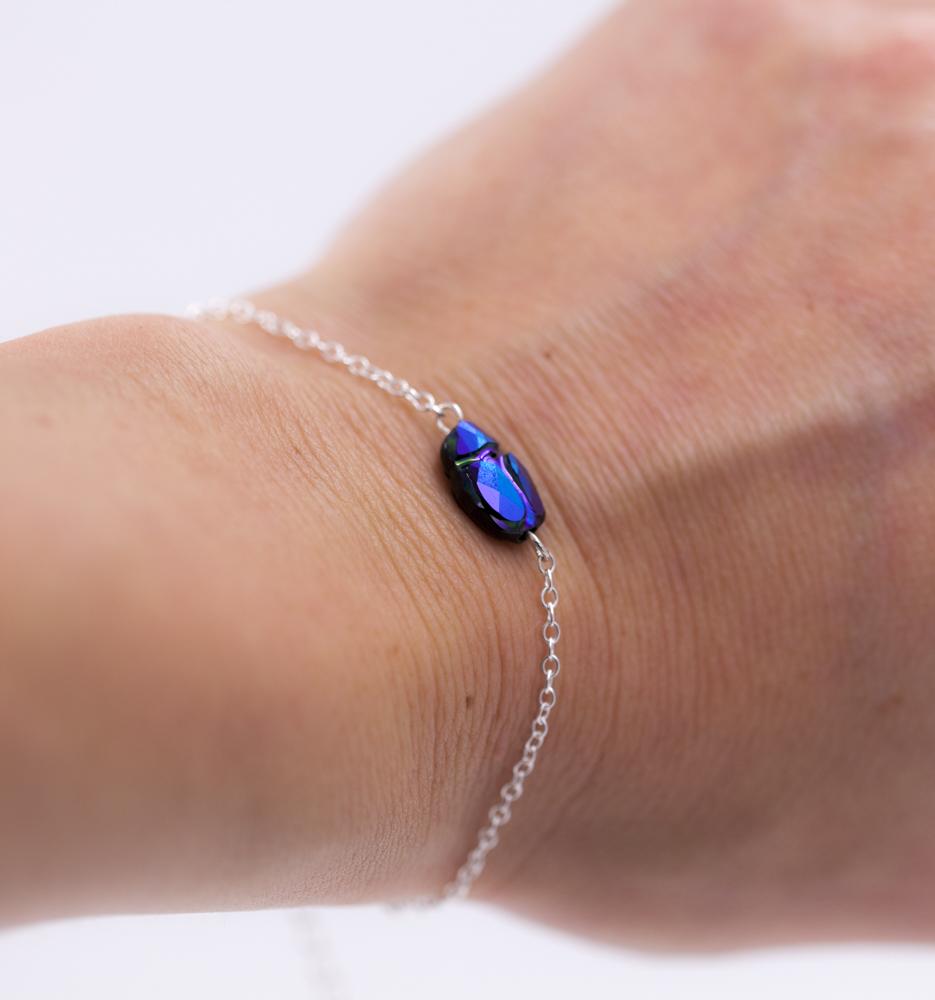 Bracelet femme – Scarabée – ARGENT 925