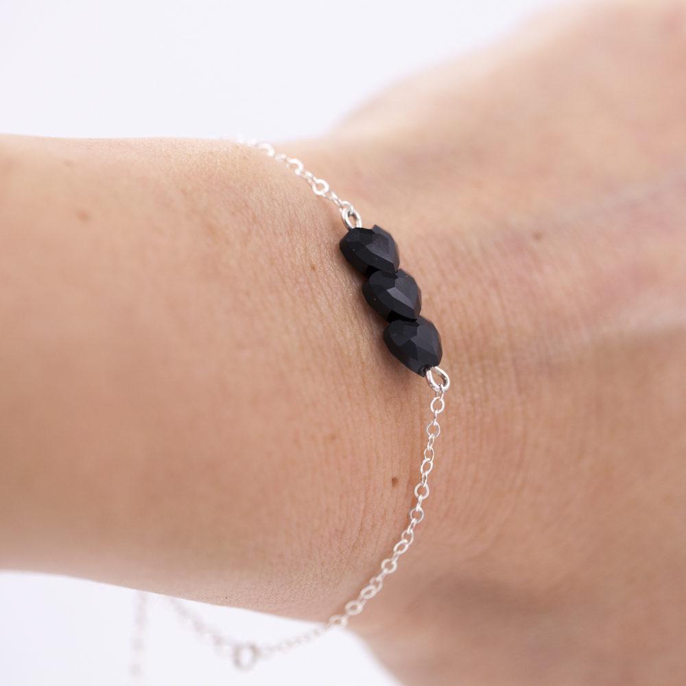 Bracelet femme – Cœurs Swarovski – ARGENT 925