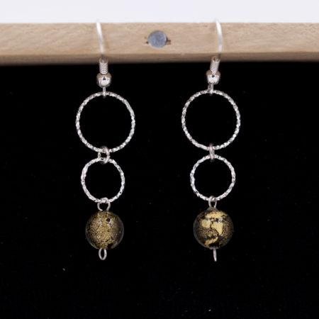Boucles d'oreilles – Murano – argent 925