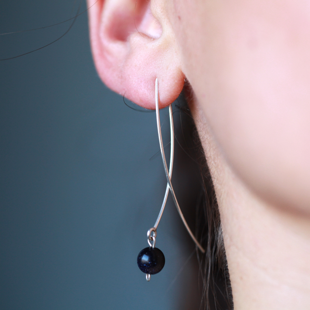 Boucles d'oreilles – Poisson – ARGENT 925