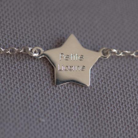 Bébé ou enfant «Petite Licorne» – bracelet argent 925 ajustable